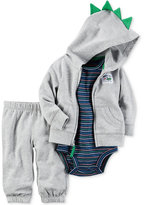 Carter's 3-Pc. Dino Spike Hoodie, Bodysuit & Pants Set, Baby Boys (0-24 months)