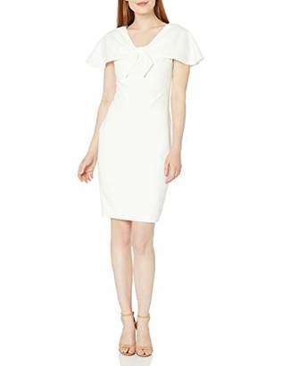 Calvin Klein Women's Short Sleeve Sheath with Tie Front Caplet