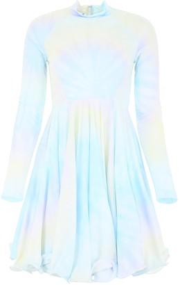 Stella McCartney Tie-Dye Long-Sleeve Dress