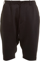Y-3 Spacer dropped-crotch shorts