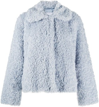 Stand Studio Marcella curly faux-fur jacket