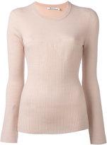 Alexander Wang ribbed pattern sweater - women - Merino - L