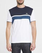Lacoste Blue White Navy Sport Round-Neck T-Shirt