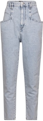 Isabel Marant Padeloisasr high-rise straight jeans
