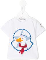 Moncler duck print T-shirt - kids - Cotton/Spandex/Elastane - 6-9 mth