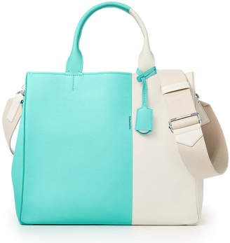 Tiffany & Co. & Co. Color Block women's tote in off-white and Blue grain calfskin leather