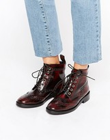 Office Anagram Brogue Lace Up Leather Ankle Boots