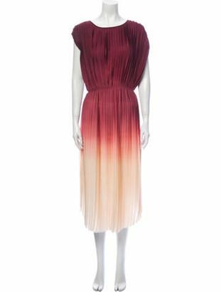 Ulla Johnson Colorblock Pattern Midi Length Dress