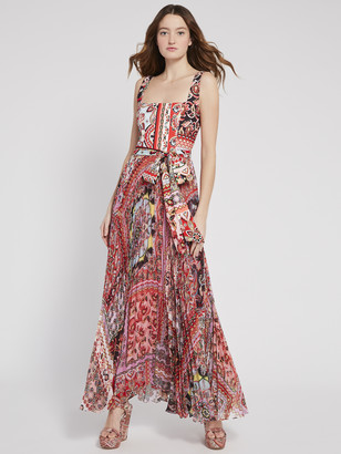 Alice + Olivia Deonna Pleated Maxi Dress