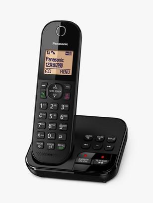 Panasonic KX-TGC420EB Digital Cordless Telephone with 1.6 Backlit LCD Screen, Nuisance Call Blocker & Answering Machine, Single DECT
