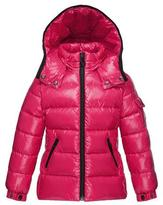 Moncler Bady Quilted Down Coat, Fuchsia, Size 8-14