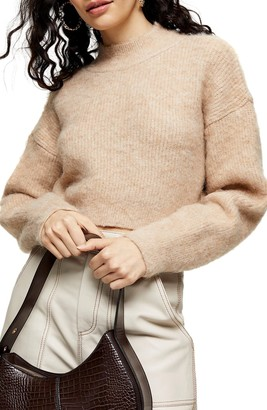 Topshop Super Crop Brushed Sweater