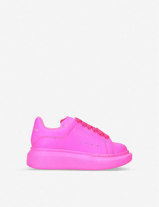 Alexander McQueen Runway leather trainers 4-8 years