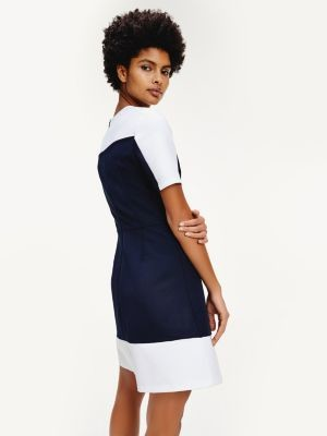 Tommy Hilfiger Crew Neck Fit And Flare Dress