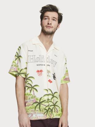 Scotch & Soda Holiday Print Shirt Hawaii fit | Men