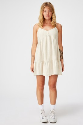 Factorie Fit And Flare Tiered Dress