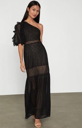 BCBGMAXAZRIA Honeycomb Tulle Dress