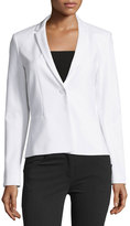 T Tahari Hadar One-Button Blazer Jacket, White