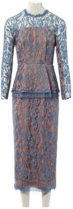 Emilia Wickstead Blue Lace Dresses