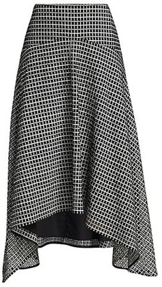Proenza Schouler White Label Geo Broderie Anglaise Handkerchief Midi Skirt