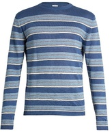 Loewe Striped linen-blend sweater