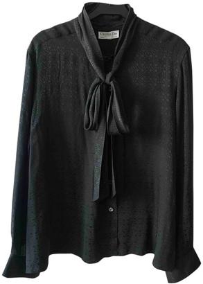 Christian Dior Black Viscose Tops