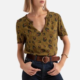 Vila Printed Short-Sleeved Blouse