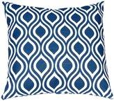 "Festive Home Decor Nicole Premier Navy Pillow Cover, 20 x 20"""