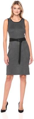 Jones New York Women's Rib Knit Dress W/Belt