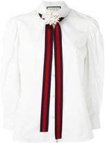 Gucci bow detail shirt - women - Cotton - 40