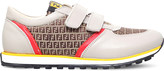 Fendi Logo lo-top leather trainers 6-9 years