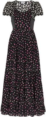 Rixo Multi-Panel Cotton Midi Dress