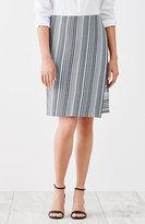 J. Jill Wrap-Style Jacquard-Knit Skirt