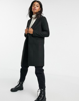 New Look tailored coat in black