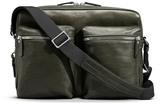 Shinola Zip Top Leather Messenger Briefcase