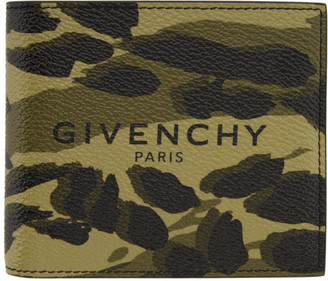 Givenchy Green Camo Bifold Wallet