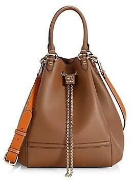 Fendi Women's Karligraphy Chain Leather Bucket Bag