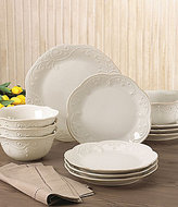 Lenox French Perle Scalloped Stoneware 12-Piece Dinnerware Set