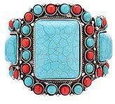 Natasha Accessories Turquoise & Coral Cuff Bracelet