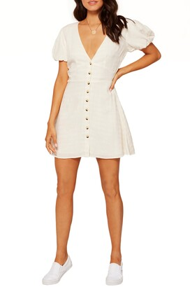 L-Space L Space Sabrina Puff Sleeve Cover-Up Minidress