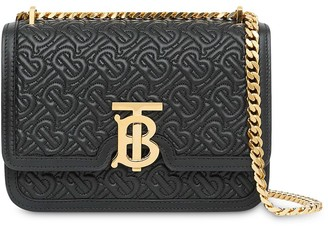 Burberry quilted TB monogram bag