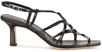 AEYDĒ Celia 75 black leather sandals