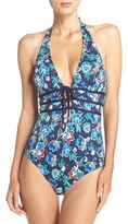 Tommy Bahama Women's Halter One-Piece Swimsuit