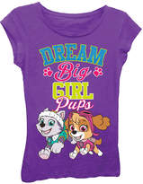 Asstd National Brand Paw Patrol Girls' Girl Pups Dream Big Short Sleeve Graphic T-Shirt with Blue Glitter