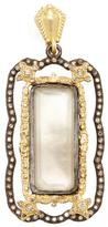 Armenta Old World 18K Gold, Smoky Quartz Doublet & 0.58 Total Ct. Champagne Diamond Open Carved Cravelli Enhancer