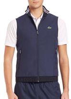 Lacoste Golf Sport Coated Gabardine Vest
