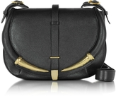 Roberto Cavalli Black Kripton Leather Shoulder Bag
