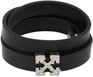 Off-White Double Wrap Arrow Leather Bracelet