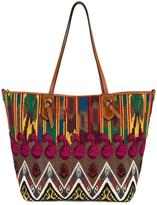 Etro embroidered detail tote - women - Cotton/Calf Leather/Polyester/PVC - One Size