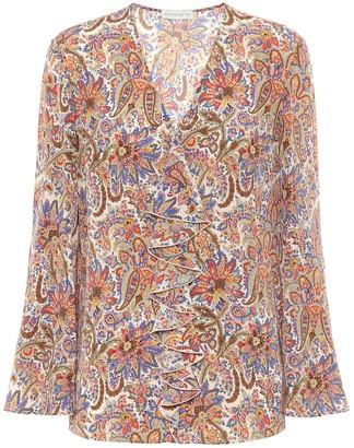 Etro Paisley silk-crApe blouse